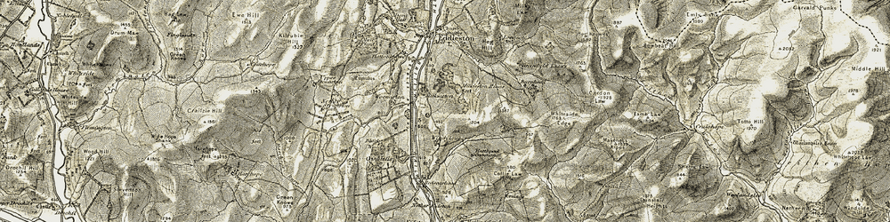 Old map of Whiteside Edge in 1903-1904