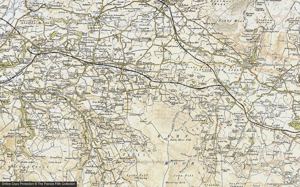 Old Map of Historic Map covering Lanshaw in 1903-1904