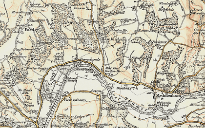 Old map of Mill End in 1897-1909
