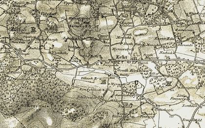 Old map of Woodside in 1908-1909