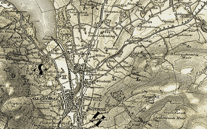 Old map of Westerton in 1905-1907
