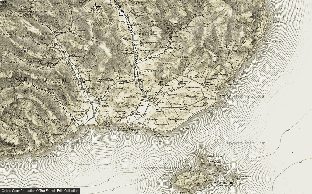 Old Map of Historic Map covering Aucharua in 1905