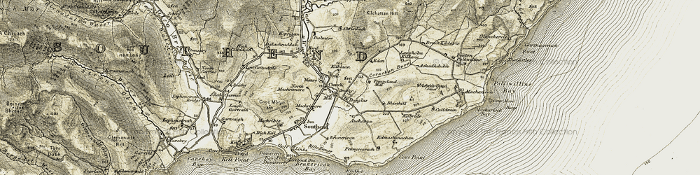 Old map of Tod Hill in 1905