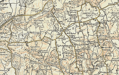 Old map of Milland in 1897-1900