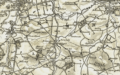 Old map of Yokieshill in 1909-1910