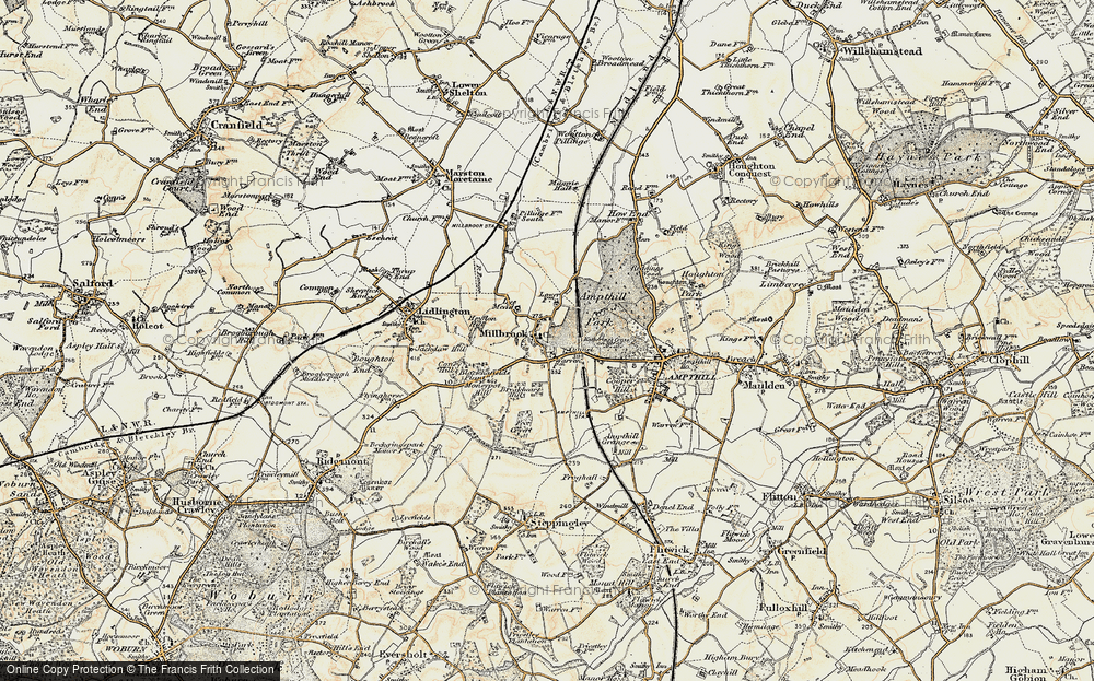 Old Map of Millbrook, 1898-1901 in 1898-1901
