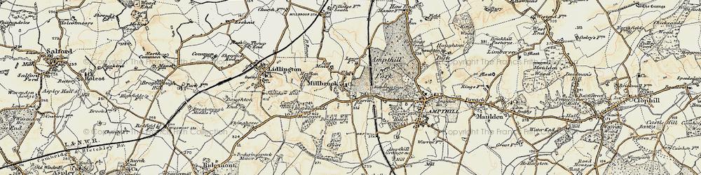 Old map of Ampthill Park Ho in 1898-1901