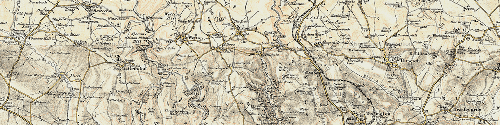 Old map of Milldale in 1902-1903