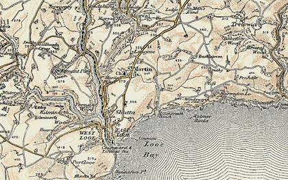 Old map of Millendreath in 1900