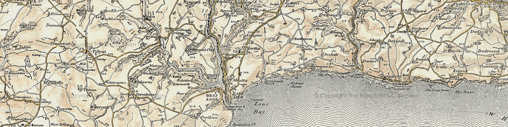Old map of Windsworth in 1900