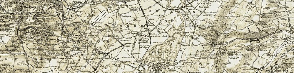 Old map of Woolmet in 1903-1904