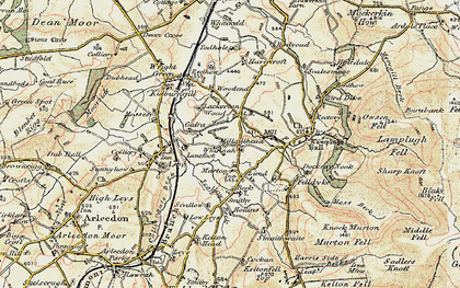Old map of Whinnah in 1901-1904