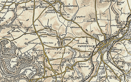 Old map of Artiscombe in 1899-1900