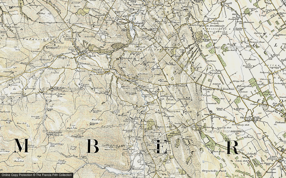 Old Map of Historic Map covering Bankend in 1901-1904
