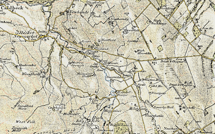 Old map of Bankend in 1901-1904