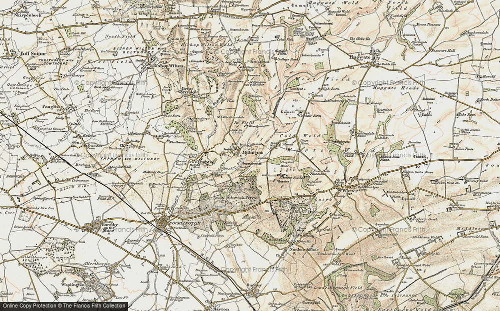Old Map of Historic Map covering Lings Plantn in 1903