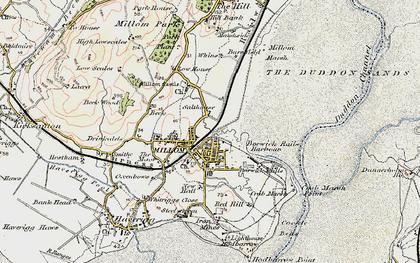 Old map of Millom in 1903-1904