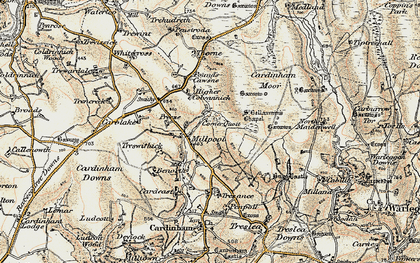 Old map of Millpool in 1900