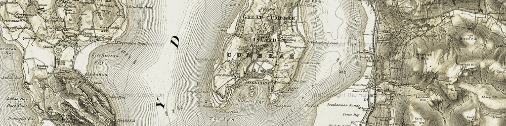 Old map of Àird Hill in 1905-1906