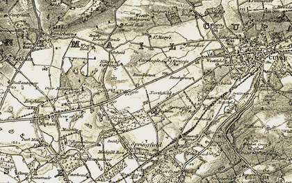 Old map of Wester Balgarvie in 1906-1908