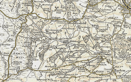 Old map of Millthorpe in 1902-1903