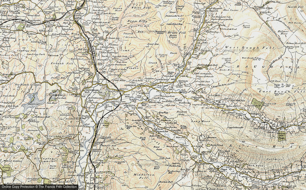 Old Map of Historic Map covering Lane Ends in 1903-1904
