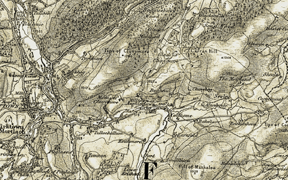 Old map of Bakebare in 1908-1910