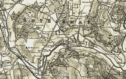 Old map of Auchincrieve in 1910