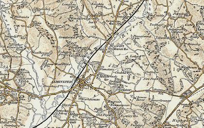 Old map of Millwey Rise in 1898-1899