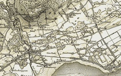 Old map of Balnaguisich in 1911-1912