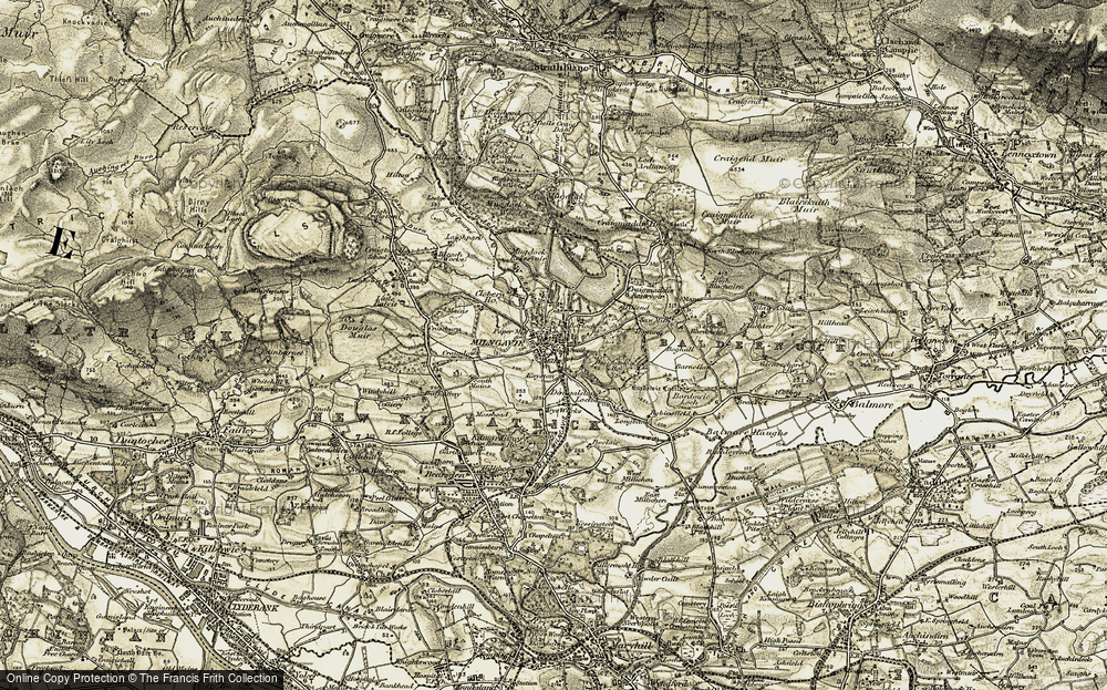 Old Map of Historic Map covering Langbank in 1904-1907