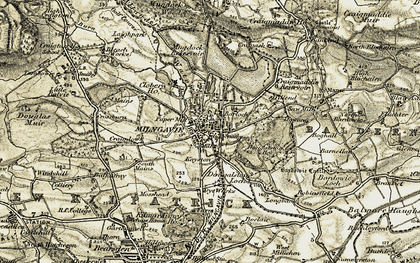 Old map of Langbank in 1904-1907