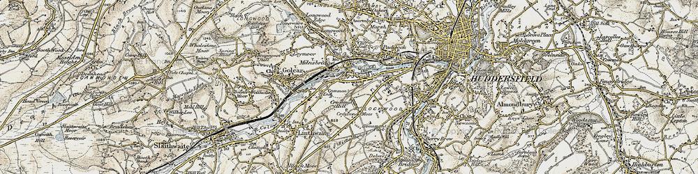 Old map of Milnsbridge in 1903
