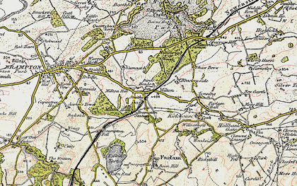 Old map of Wreay in 1901-1904