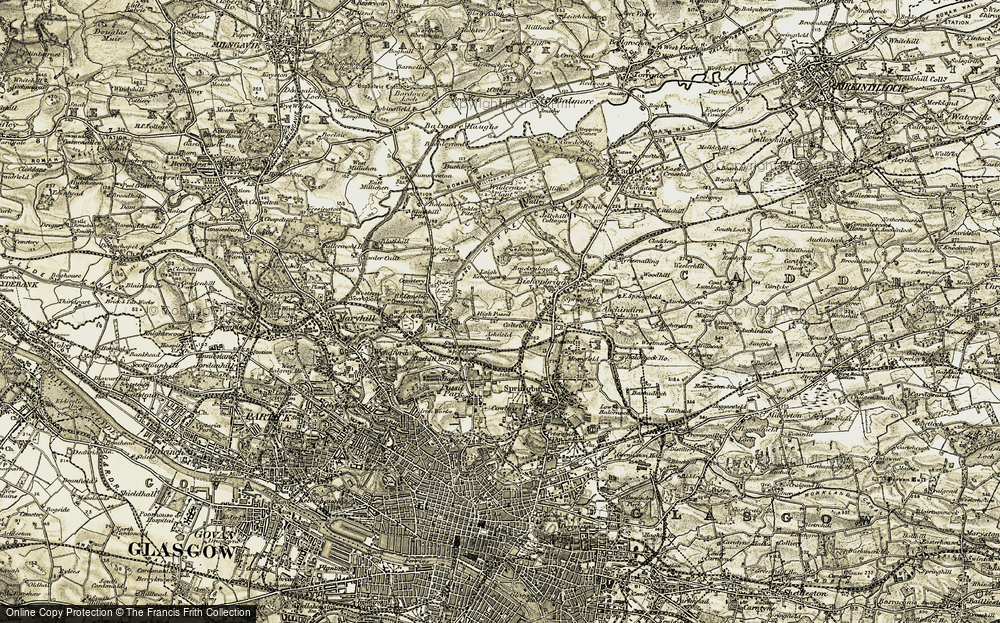 Old Map of Historic Map covering Largh Kenmure in 1904-1905