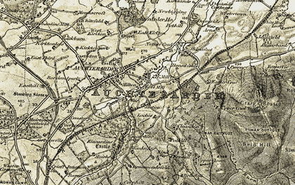 Old map of Auchterarder Ho in 1906-1908