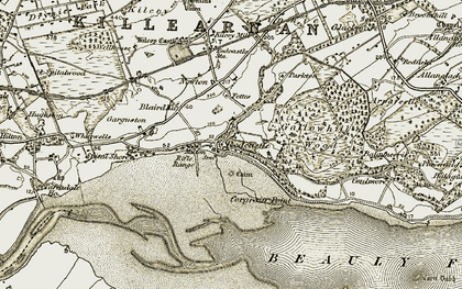 Old map of Acharry in 1911-1912