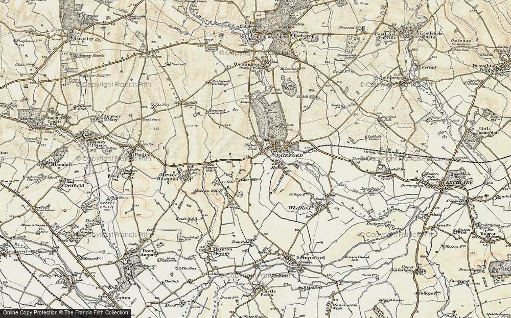 Old Map of Historic Map covering Toms Copse in 1898-1899