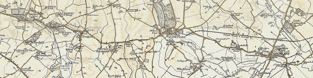 Old map of Toms Copse in 1898-1899