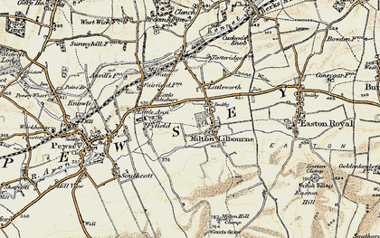 Old map of Milton Lilbourne in 1897-1899