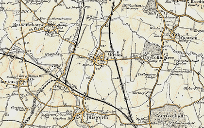 Old map of Milton Malsor in 1898-1901