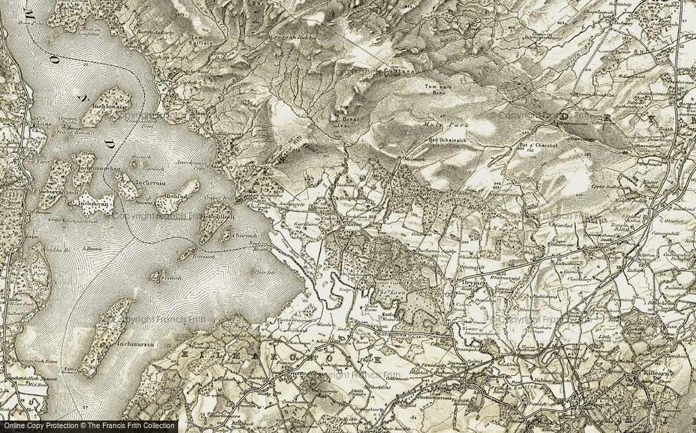 Old Map of Historic Map covering Bad Ochainaich in 1905-1907