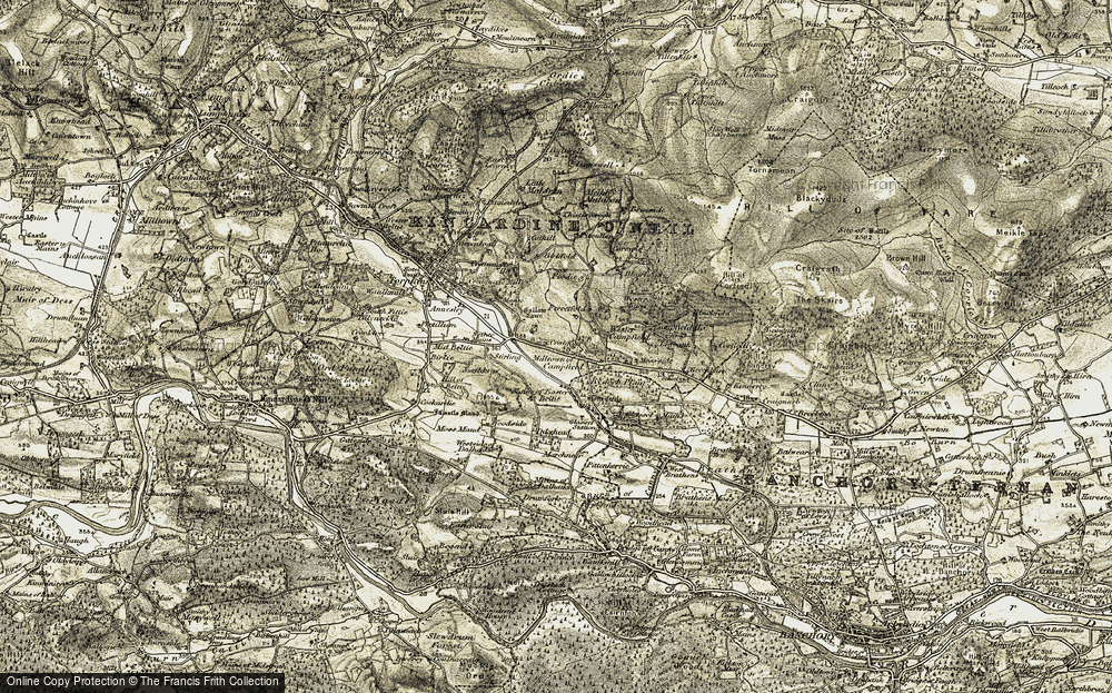Old Map of Historic Map covering Leabank in 1908-1909