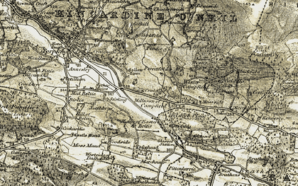 Old map of Westside of Dalhaikie in 1908-1909
