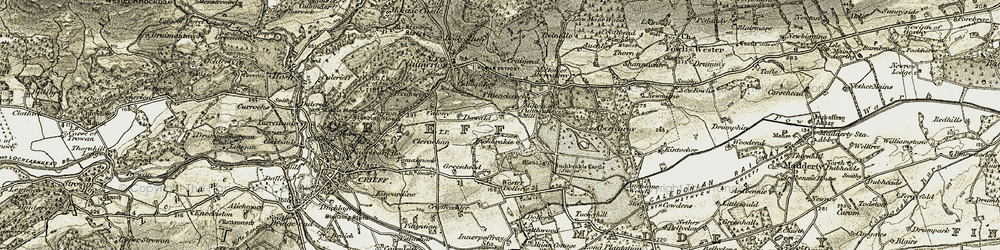 Old map of Wester Dollerie in 1906-1907