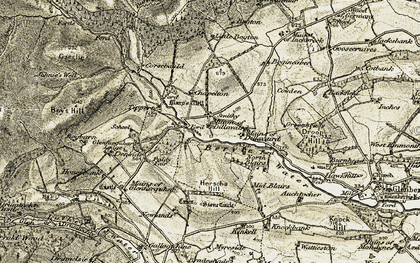 Old map of Tipperty in 1908-1909