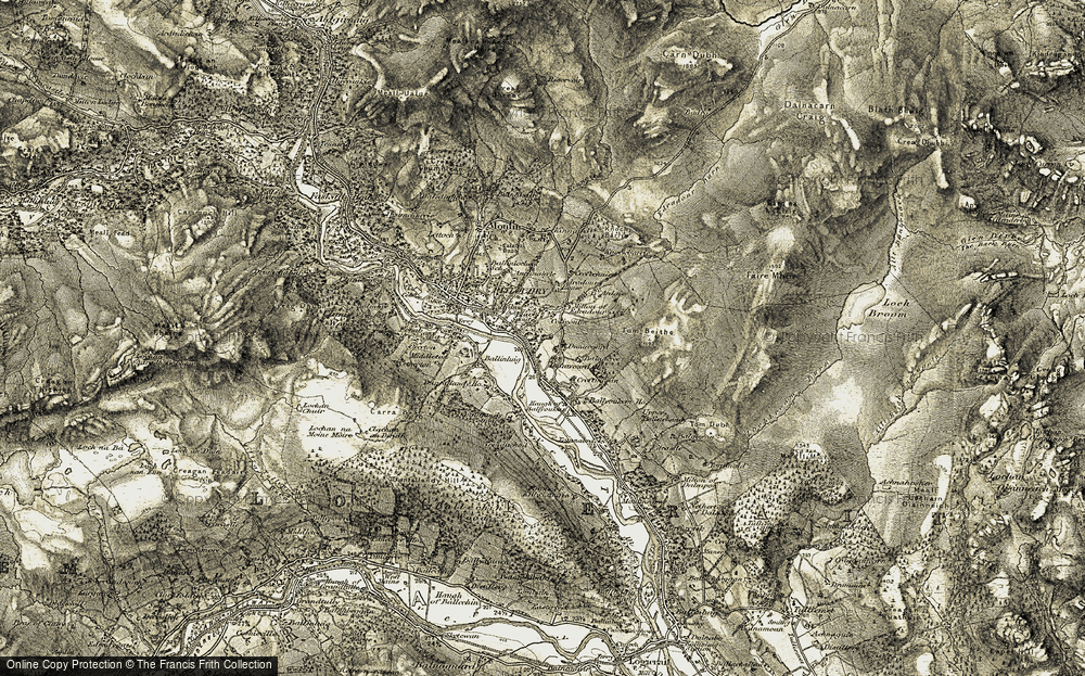 Old Map of Historic Map covering Balnacree in 1907-1908