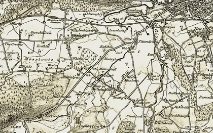 Old map of Wester Manbeen in 1910-1911