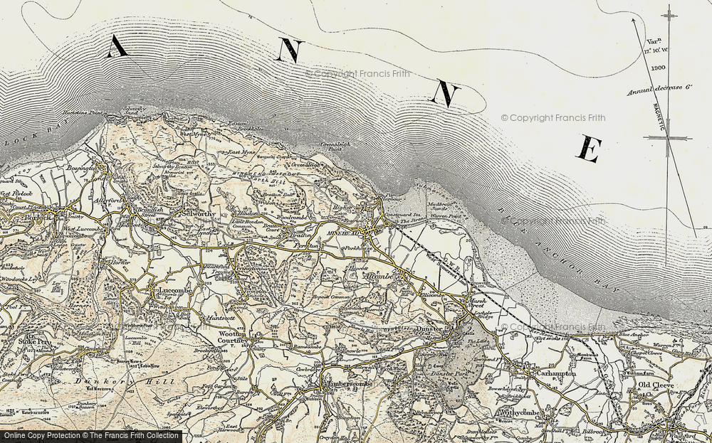 Old Map of Minehead, 1899-1900 in 1899-1900