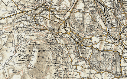 Old map of Minera in 1902-1903